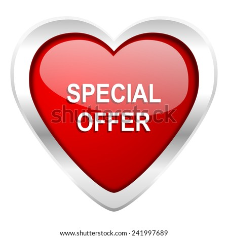 special offer valentine icon   - stock photo
