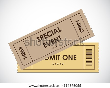 special old entrance tickets - stock photo