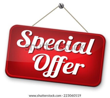 special opromotion offer exclusive bargain promotion low hot price best value  - stock photo