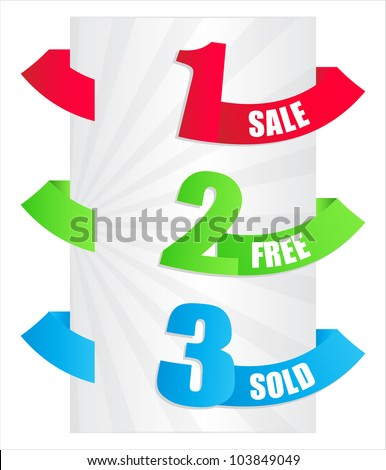 special paper tags - stock photo