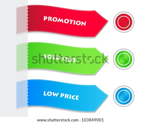 special paper tags and buttons - stock photo