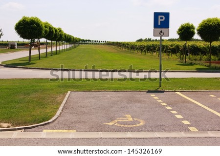 Special parking - stock photo