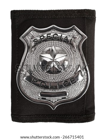 Special police badge - stock photo