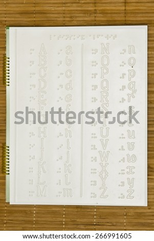 Special relief graphic image for Blind people - stock photo