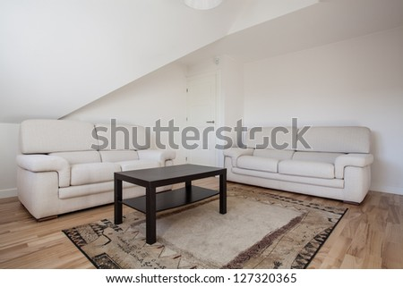 special room for guests two white couches
