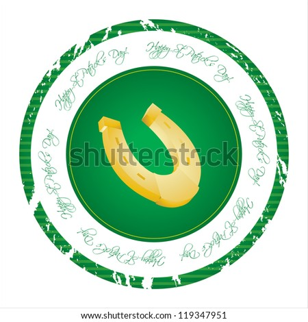 special stamp with St. Patrick's Day design - stock photo