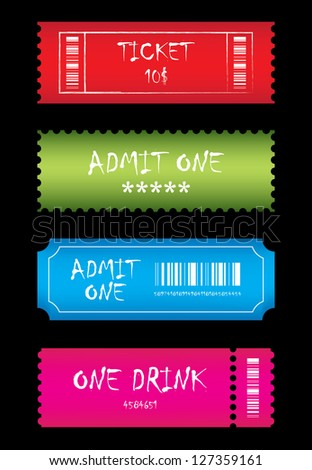 special tickets - stock photo