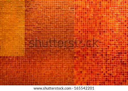 Special wall made with different type of tile - stock photo