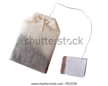 specialty tea bag isolated on white background - stock photo