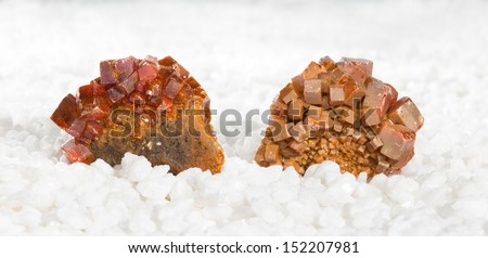 Specimens covered in tabular wulfenite crystals, a lead molybdate mined as a molybdenum ore and used metaphysically in white magic, as an energising stone and for astral travel - stock photo