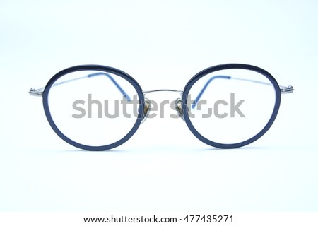 Spectacles Eyeglasses on white background style vintage