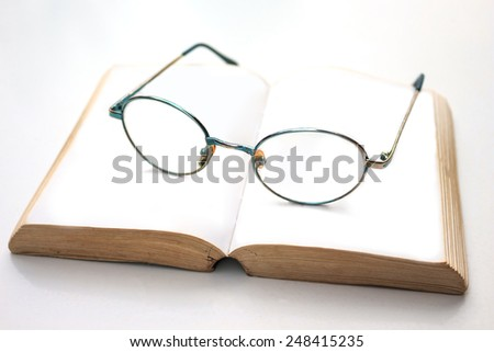 spectacles on white background - stock photo