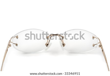 Spectacles Without Frames On White Stock Photo (Royalty Free ...