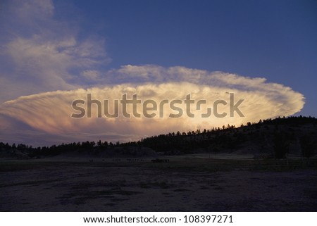 Spectacular clouds in South Dakota - stock photo