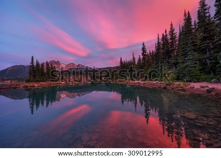 Spectacular colors from the rays of the sun - stock photo
