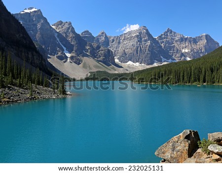 Spectacular Lake Moraine, located in Banff National Park, Alberta, Canada.  - stock photo
