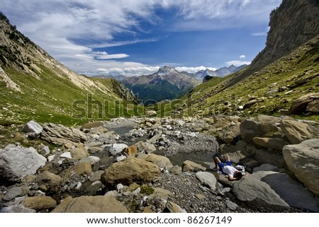 Spectacular landscape for the relax - stock photo