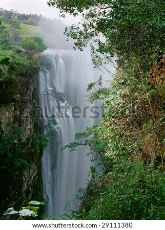 Spectacular Magwa Falls near Mbotyi , Cape Province, South Africa - stock photo