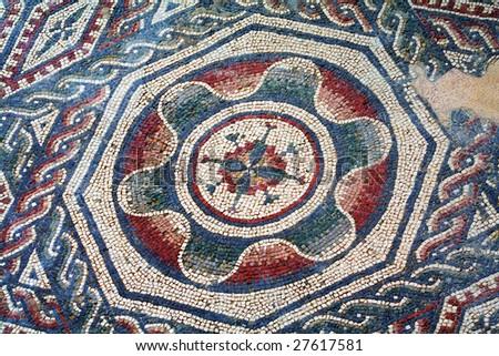 Spectacular mosaics of the Casale Roman Villa in the Piazza Armerina - Sicily - stock photo