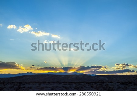 spectacular sunset in Bryce Canyon National Park, Utah, USA - stock photo