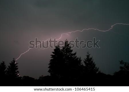 spectacular thunderbolt - stock photo