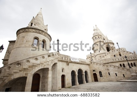 Spectacular views of the old city of Budapest - stock photo