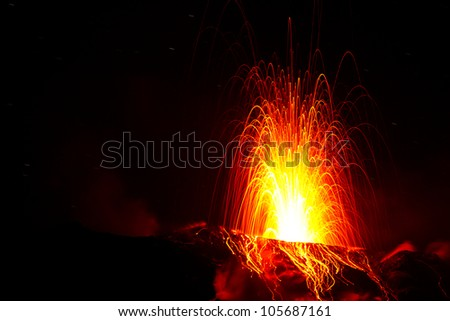spectacular volcano eruption