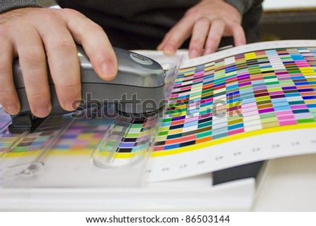 spectrophotometer measurements - stock photo