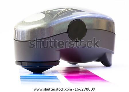 Spectrophotometer, Print Measuring Tool - stock photo