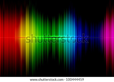 Spectrum abstract beautiful on the black background - stock photo