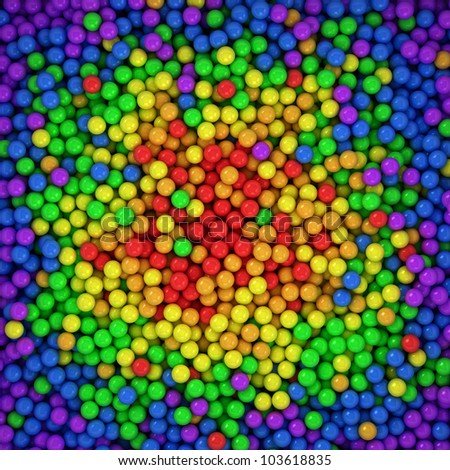 Spectrum balls background, three-dimensional computer graphic - stock photo