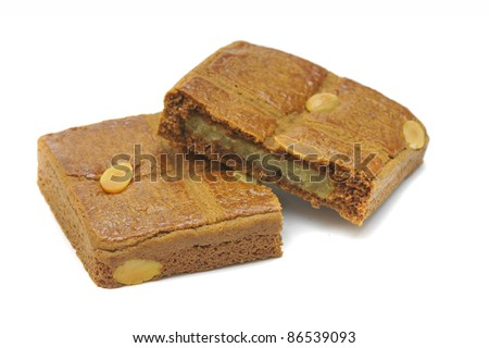Speculaas ( a typical dutch cookie) isolated on a white background - stock photo