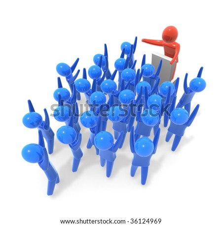 Speech - stock photo