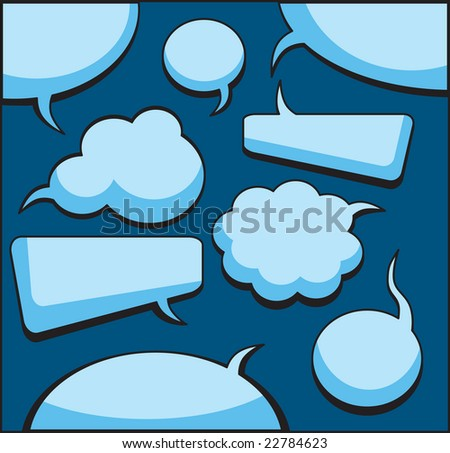 Speech And Thought Bubbles (also available vector version of this image in our gallery) - stock photo