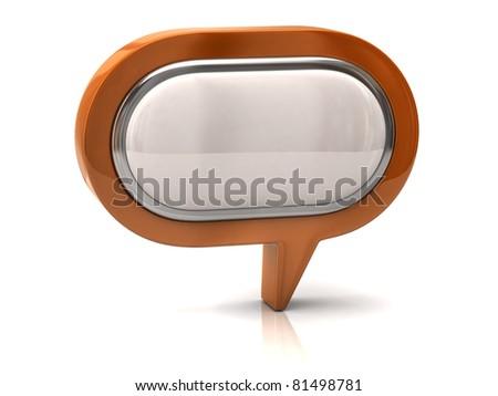Speech bubble - stock photo