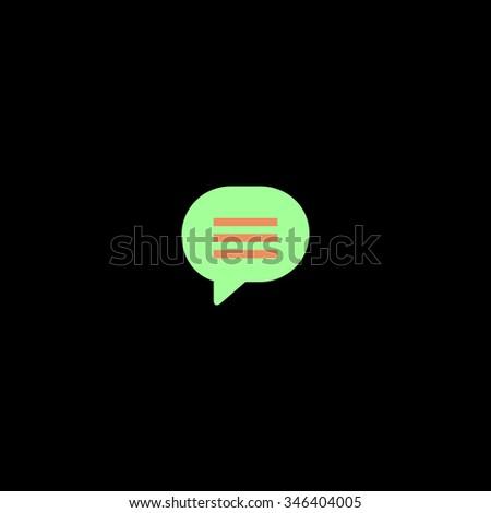 Speech bubble. Colorful symbol on black background - stock photo