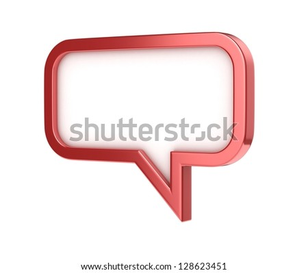 speech bubble - conversation chat texting icon - stock photo