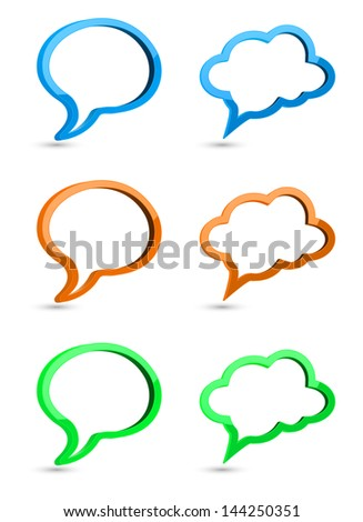 speech bubble 3d