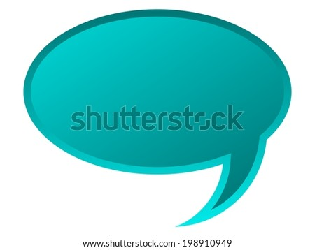 Speech bubble for your text in blue color