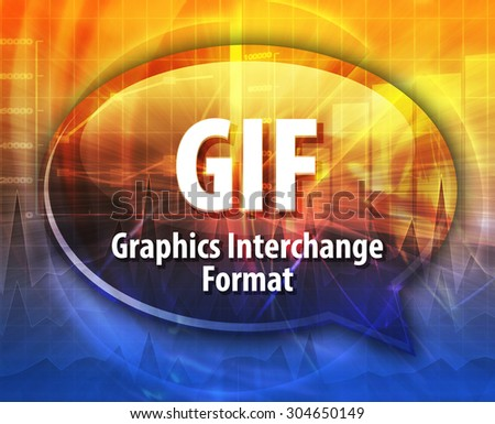 speech bubble illustration information technology acronym
