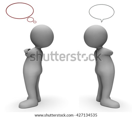 Speech Bubble Meaning Talk Network And Speaking 3d Rendering