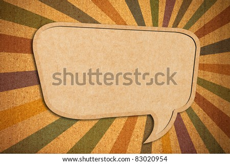 Speech bubble on Cork-board background - stock photo