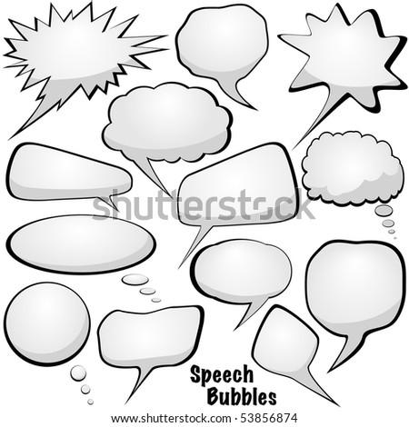 Speech bubbles - stock photo