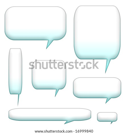 speech bubbles and balloons isolated on a white background - stock photo
