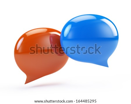 Speech Bubbles, Chat Icon - stock photo