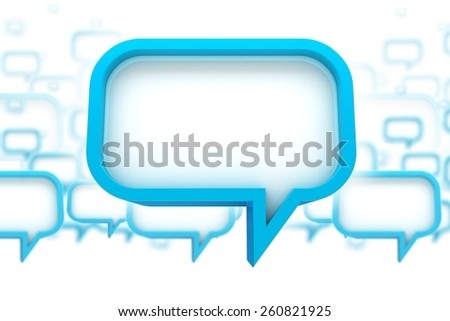 Speech Bubbles Concept 3D Abstract Illustration. Speaking - Chat Bubbles. - stock photo