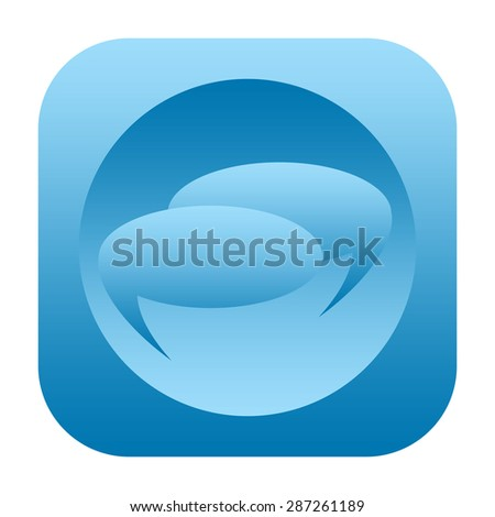 Speech bubbles icon - stock photo