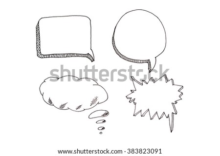 Speech bubbles icons set with place for your text. - stock photo