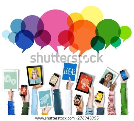 Speech Bubbles Message Concept Symbol Communication Idea Concept - stock photo