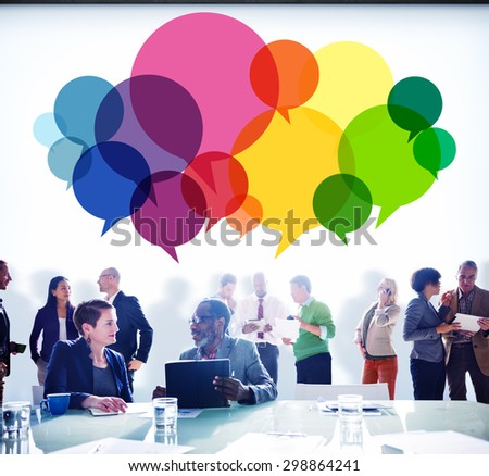 Speech Bubbles Message Concept Symbol Communication Idea Concept - stock photo